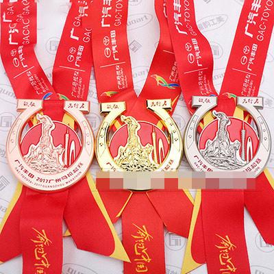广汽丰田广州马拉松比赛金属奖牌定做
