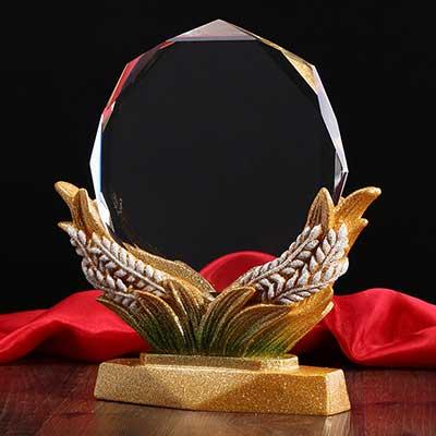 水晶玻璃奖牌个性奖杯定做