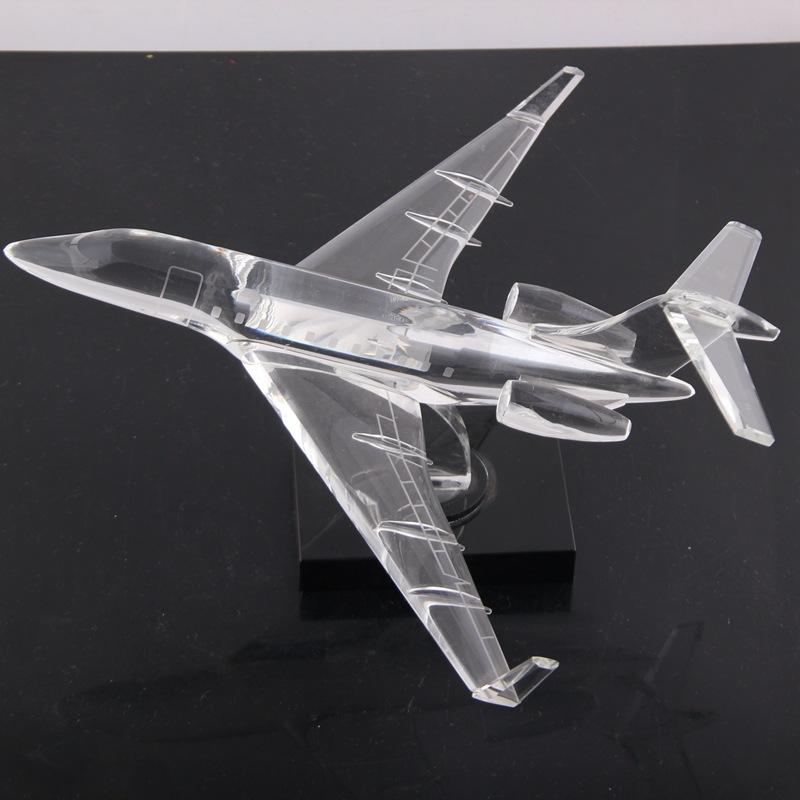 创意水晶飞机模型