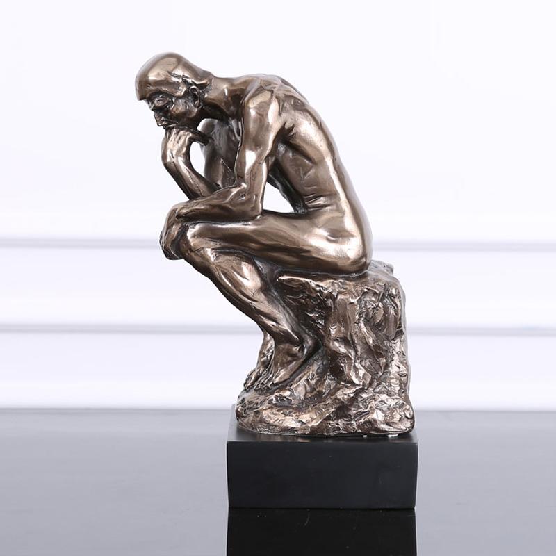 树脂摆件欧式样板间摆设 沉思者思想者人物雕像