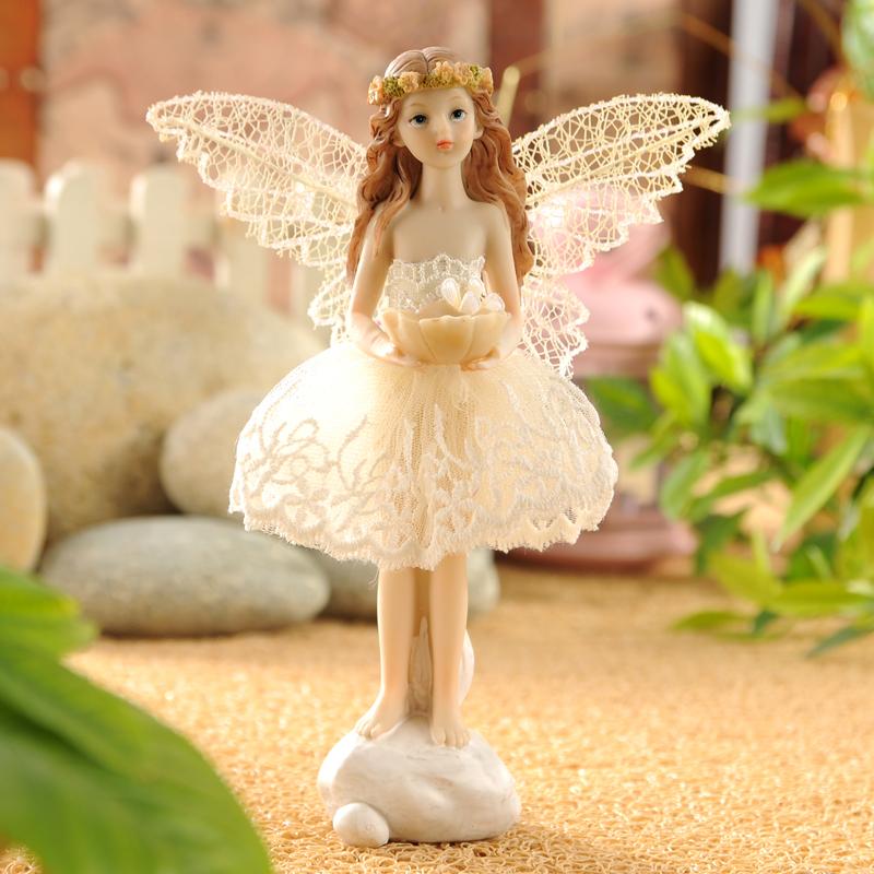 欧式树脂娃娃家居装饰品摆设精致可爱小女孩卧