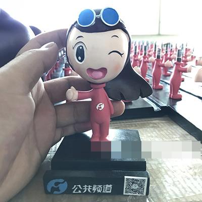 河南电视台公共频道创意人物模型树脂摆件定做