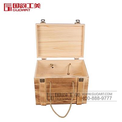 原木白酒礼木质盒子酒盒定做