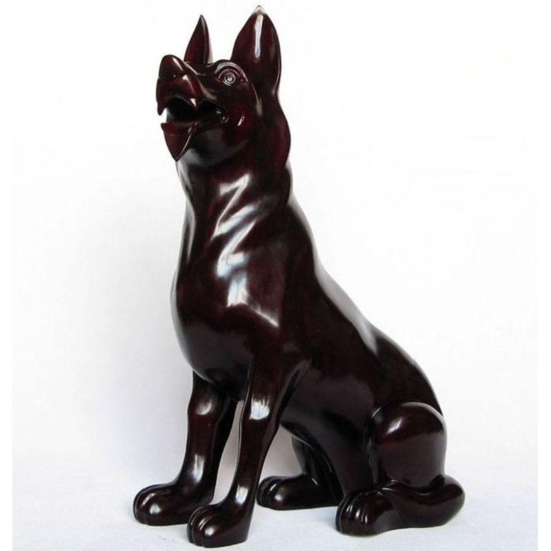 红木雕刻犬