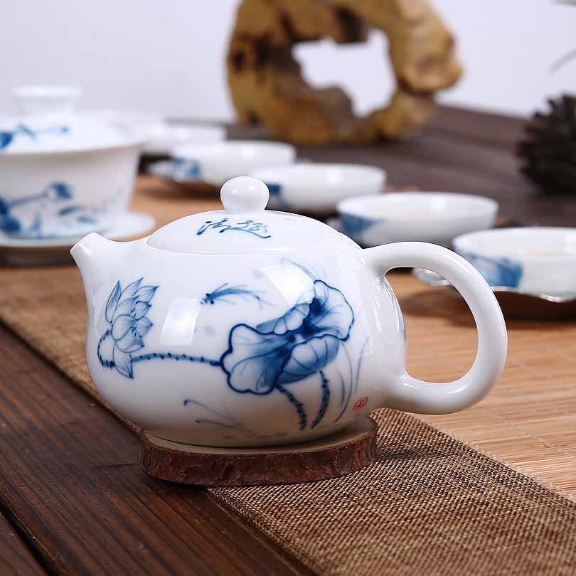 手绘青花瓷功夫茶具泡茶器