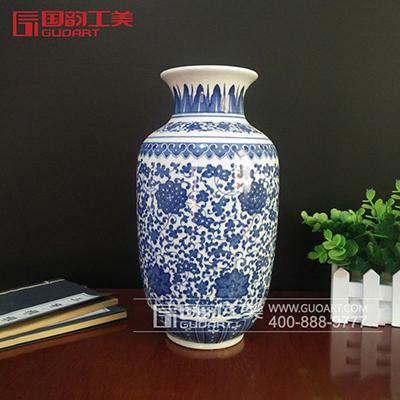 青花瓷景德镇陶瓷赏瓶中国风陶瓷赏瓶定制
