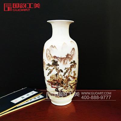 喜上眉梢创意赏瓶陶瓷装饰赏瓶定做