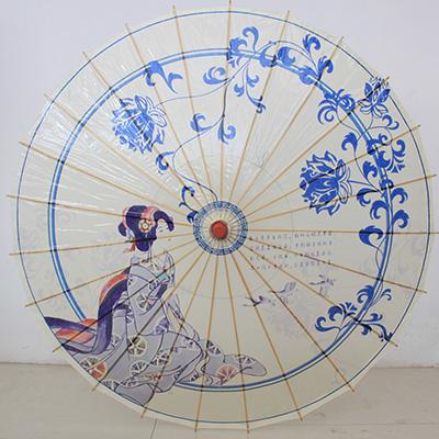 唯美古风手绘雨伞