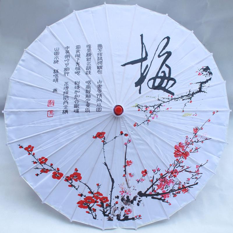 中国风手绘棉布伞定制