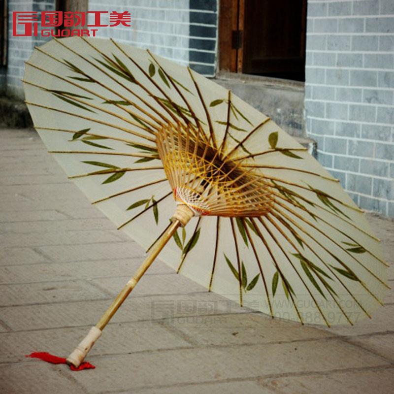 古典手工竹叶伞江南中国风油纸伞雨伞定做图片